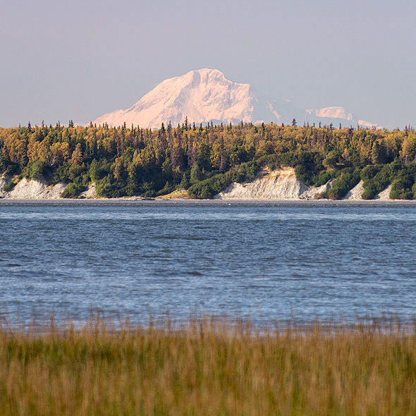 Denali view from Anchorage (Earthquake Park)