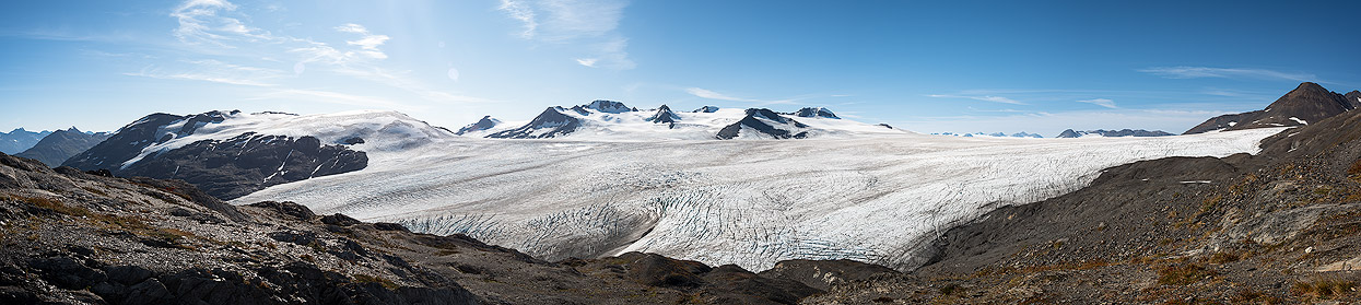 The Harding Icefield - a giant ice cap