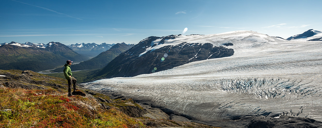 The Harding Ice Field Trail is one of the most beautiful and impressive day hikes