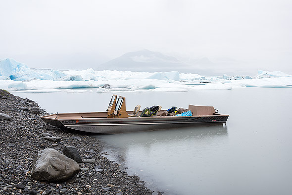 By boat to the the Knik Glacier Lagoon
