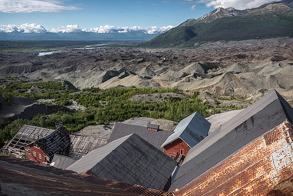 Glacier view from top of the Kennicott Mine Tower