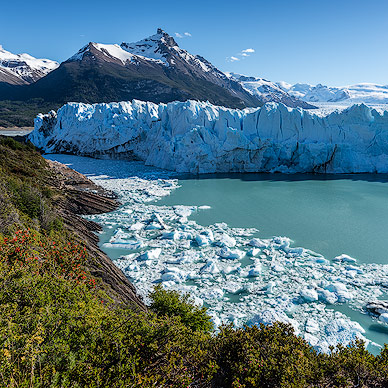 Impressive ice wall of Perito Moreno