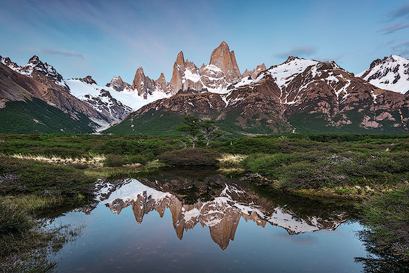 One more reflection of Fitz Roy close to Camping Poincenot