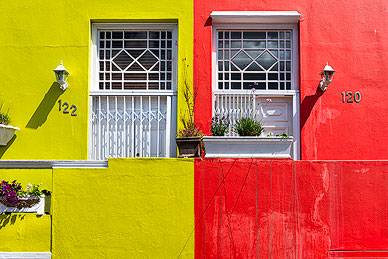 Colorful houses at Bo Kaap