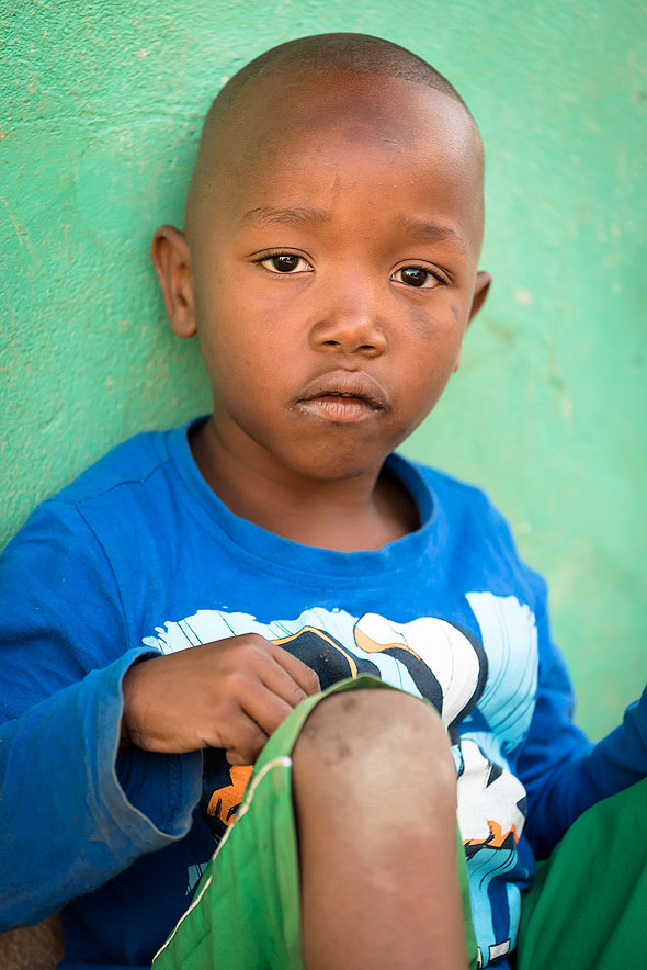 Young Boy at Imizamo Yethu Township in Cape Town